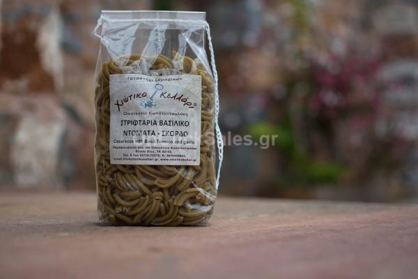 Ζυμαρικά Στριφτάρια με Βασιλικό, Τομάτα & Σκόρδο Χιώτικο Κελλάρι 500γρ