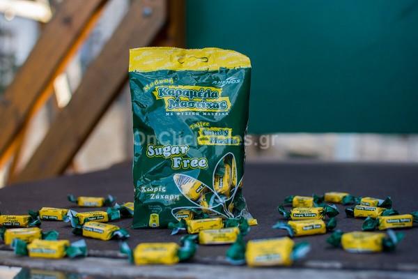 Μαστιχοκαραμέλες με Φυσική Μαστίχα, Μαλακές Sugar Free Άνεμος 100γρ