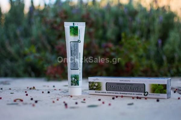 Οδοντόκρεμα Μastic & herbs με Μαστίχα και Βιολογικό Δυόσμο Άνεμος 75ml