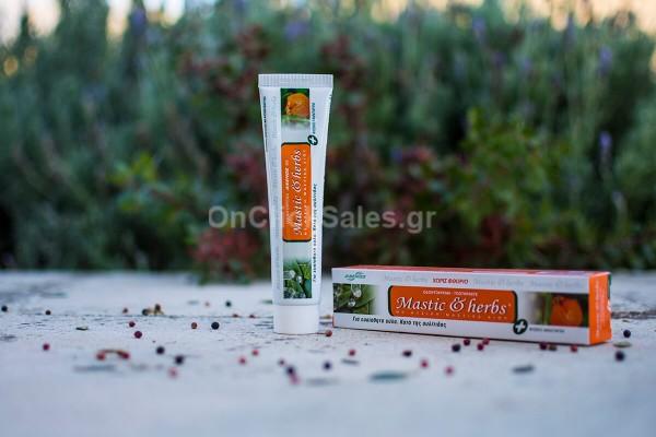 Οδοντόκρεμα Μastic & herbs με Μαστίχα και Μανταρίνι Άνεμος 75ml