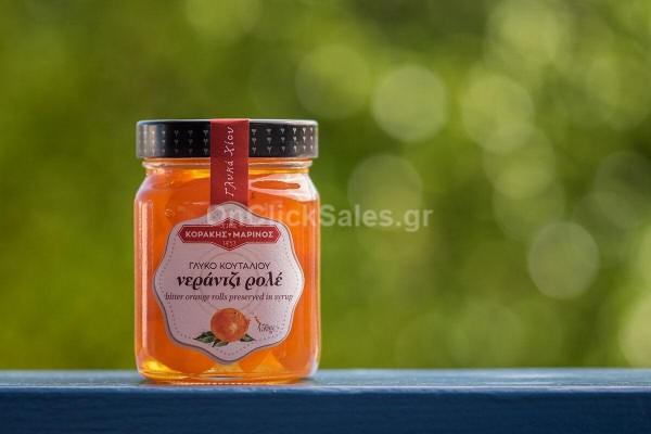 Γλυκό του Κουταλιού Νεράτζι Ρολέ Κοράκης Μαρίνος 450γρ