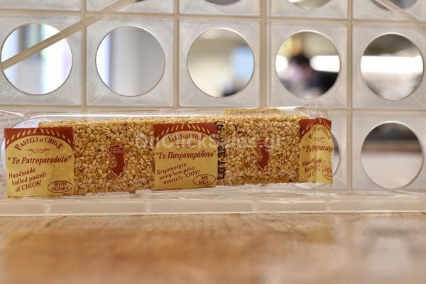 Παστέλι Σισάμι Αποφλοιωμένο με Μέλι Το Πατροπαράδοτο 50γρ